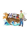 Life-size cardboard standee Noahs Ark with model.