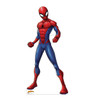 Life-size cardboard standee of Spider-Man from Marvel.