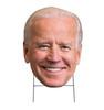 Coroplast outdoor big head of Joe Biden with H-Stake.
