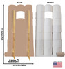 Life-size cardboard standin of HoarderToilet Paper Roll with front and back dimensions.