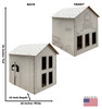 Life-size Color Me School House with front and back dimensions.