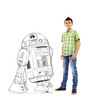 Life-size Color Me R2-D2 Standee with model.
