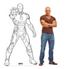 Life-size Color Me Iron Man Standee with model.