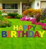 Coroplast Happy Birthday Yard Sign