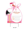 New Baby Outdoor Stork Standee - Pink It's a Girl 3434