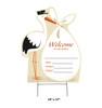 New Baby Outdoor Stork Standee - Neutral 3432