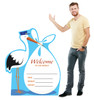 It's a Boy Stork standee with model