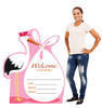 It's a Girl Stork standee with model.
