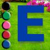 Letter E yard sign