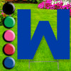 Letter W yard sign