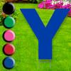 Letter Y yard sign