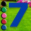 Number 7 yard sign