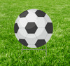 Coroplast outdoor yard sign icon of a soccer ball.