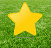 Coroplast outdoor yard sign icon of a yellow star.