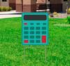 Coroplast outdoor School Calculator Yard Sign.