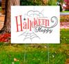 Coroplast outdoor Halloween Sign 01.