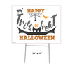 Coroplast outdoor Halloween Sign 07 with dimensions.