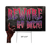 Coroplast outdoor Halloween Hand 4 Yard Sign with dimensions.