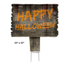 Coroplast outdoor Happy Halloween Yard Sign 1  with dimensions.