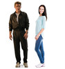 Steve Trevor cardboard standee from the movie Wonder Woman 1984 with model.