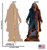 Life-size Beta (The Walking Dead) Cardboard Standup | Cardboard Cutout Back and Front Dimensions