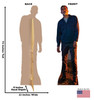 Life-size Negan (The Walking Dead) Cardboard Standup | Cardboard Cutout Back and Front Dimensions