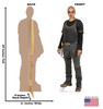 Life-size Alpha (The Walking Dead) Cardboard Standup | Cardboard Cutout Back and Front Dimensions