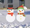 Coroplast outdoor Snowman Yard Signs Set of 2.