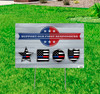 Coroplast outdoor support our first responders yard sign.