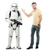 Life-size cardboard standee of a Stormtrooper with model.