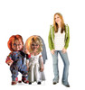 Life-size cardboard standee of Chucky and His Bride with model.