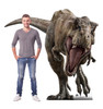 Life-size cardboard standee of T-Rex from The Lost World with model.