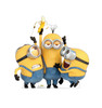 Life-size cardboard standee of Stuart, Kevin & Bob from The Minions.