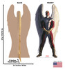 Life-size cardboard standee of Angel from Marvels Timeless Collection with back and front dimensions.