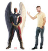 Life-size cardboard standee of Angel from Marvels Timeless Collection with model.
