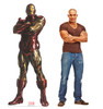 Life-size cardboard standee of Iron Man from Marvels Timeless Collection with model.