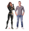 Life-size cardboard standee of Black Widow from Marvels Timeless Collection with model.
