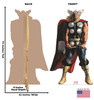 Life-size cardboard standee of Thor from Marvels Timeless Collection with back and front dimensions.