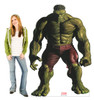 Life-size cardboard standee of Hulk from Marvels Timeless Collection with model.