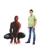 Life-size cardboard standee of Spider-Man from Marvels Timeless Collection with model.