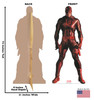 Life-size cardboard standee of Daredevil from Marvels Timeless Collection with back and front dimensions.