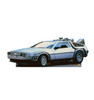Life-size cardboard  standee of the DeLorean from Back to the Future movies.