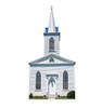 Life-size cardboard standee of Church with Steeple.