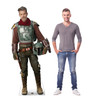 Life-size cardboard standee of The Marshal from the Mandalorian season 2 with model.