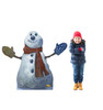 Life-size cardboard standee of the Polar Express Snowman from The Polar Express with model.