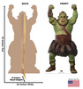 Life-size cardboard standee of a Gamorrean Fighter from the Mandalorian season 2 with back and front dimensions.
