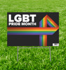 LGBT Pride Month Yard Sign.