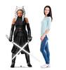 Life-size cardboard standee of Ahsoka Tano from the Mandalorian season 2 with model.