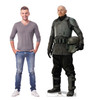 Life-size cardboard standee of Mayfeld  from the Mandalorian season 2 with model.