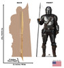 Life-size cardboard standee of The Mandalorian with Spear from the Mandalorian season 2 with back and front dimensions.